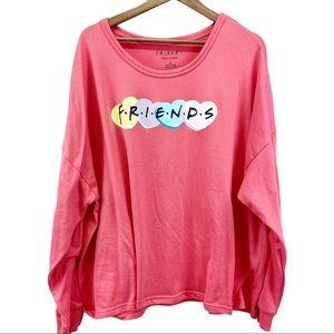 Friends Bewitching Coral Spellout Sleep Shirt 3X